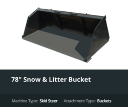 Skid Steer Attachment Bucket 2