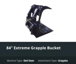 Skid Steer Attachments Grapple Bucket